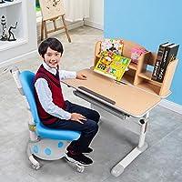 生活诚品 儿童书桌 学习桌 儿童书桌椅套装学生书桌椅套装 MC311+AU307蓝色 书桌套装【送货上门 包安装 质保五年】【亚马逊自营,供应商发货】