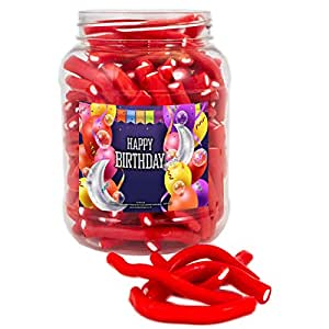 Mr Tubbys Cherry Flavoured Fruit Sticks - Happy Birthday Blue Label - Large Jar 1200g(Pack of 1)