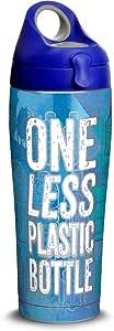 Tervis 海岸警卫队不锈钢保温杯,带蓝*盖 银色 24 oz Water Bottle 1322115