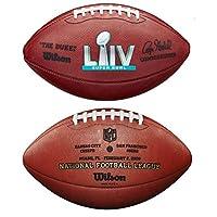 Wilson NFL *碗 LIV (54) 官方皮革足球盒装 - 堪萨斯城酋长队对圣菲斯科斯科49人
