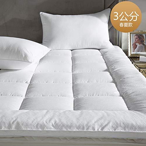 宝被 五星级酒店床垫保护垫被防滑加厚床褥子折叠1.8m床1.5m床 立高3公分春夏款 1.8m(6英尺)床