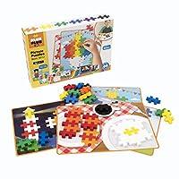 Plus-Plus BIG - 大图片拼图,基本颜色混合 - 建筑建设杆玩具,互锁大拼图块适合幼儿和学龄前儿童