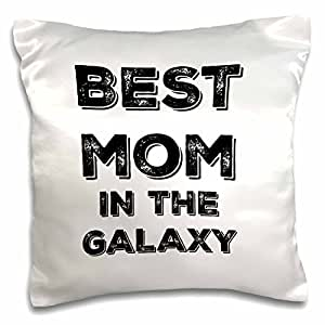 "BrooklynMeMe 语录 - Best Mom in the Galaxy - 枕套 白色 16"" x 16"" pc_224714_1"