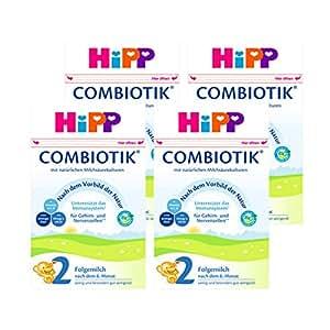 (跨境自营)(包税) Hipp喜宝 进口益生菌婴幼儿奶粉 2段 6-10个月 4盒装(4 * 600g)
