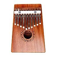 GECKO壁虎拇指钢琴便携卡林巴琴10音手指琴拇指琴十音拇指钢琴卡林巴非乐器kalimba K10M 原木色