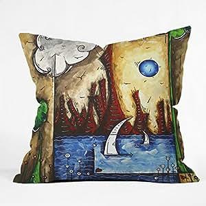 DENY Designs Madart Cast Over The City Throw Pillow