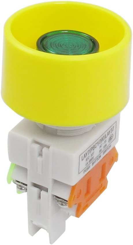 22mm a12081700ux0111 Uxcell 24V Lamp Latching 1NO 1NC Push Button Switch