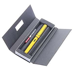 LAMY 凌美 safari狩猎者标准F尖墨水笔(钢笔)亮黄色-E107礼盒包装(标配吸墨器)(亚马逊进口直采,德国品牌)