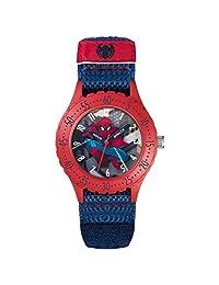 蜘蛛侠儿童石英手表, multicolour 表盘 ANALOGUE 显示和蓝色橡胶表带 spd3495