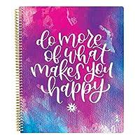 bloom 日常計劃簿 多合一終極每月和每周未日期日歷記事本、筆記本、素描簿、網格頁、彩色書等! 22.86 厘米 x 27.94 厘米 Do More of What Makes You Happy