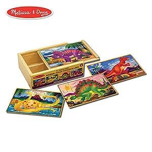 Melissa & Doug 四合一 木制拼图 盒装(48片)