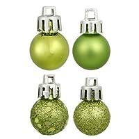 Vickerman 4-Finish Ornament Set, Includes 32 Per Box, 3-Inch, Lime