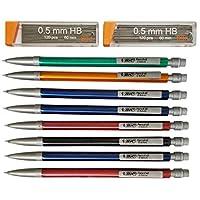 8 包机械铅笔,含 2 包 #2 铅笔芯 Bic 0.5 mm