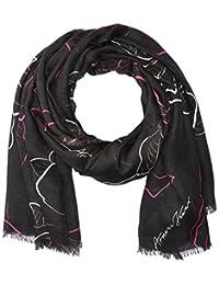 Armani Jeans 女士玫瑰印花针织围巾