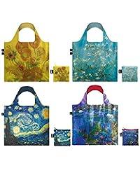 LOQI CU.CO.12 博物馆 12 系列袋可重复使用袋,4 件套,