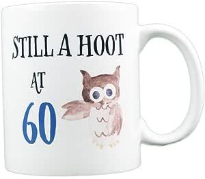 EverMug Still a Hoot at 60-60 岁生日猫头鹰礼物马克杯 白色 11 oz. 並行輸入品
