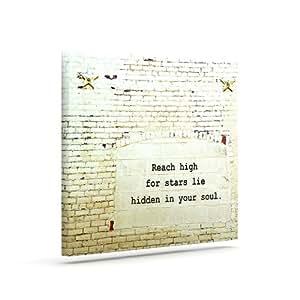 "Kess InHouse Robin Dickinson""Reach High"" 砖墙户外帆布墙壁艺术 24"" x 30"" RD1091AAC05"