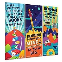 Sproutbrite 课堂装饰 - 教师垂直阅读横幅和海报 - 公告板和墙饰 适用于学前、小学和中学