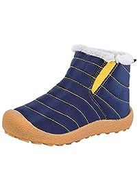 Zefani 儿童防水雪地靴冬季防滑毛皮衬里保暖鞋户外