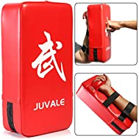 Juvale 日常训练踢水垫(20.32 x 10.16 厘米,红色,PU 皮革)