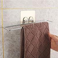 浴室无痕毛巾架卫生间吸盘挂毛巾挂架毛巾杆厨房免打孔抹布架