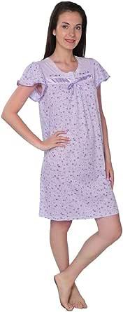 Beverly Rock 女式混棉印花短袖针织睡衣 Purple_#035 2X Plus