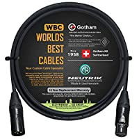152.4 厘米 – 四根平衡麦克风线由全球*佳线缆定制 – 使用 Mogami 2534 线和Neutrik NC3MXX-B 公和 NC3FXX-B 母头 XLR 插头。