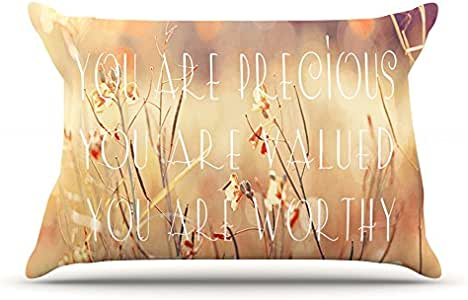 Kess InHouse Suzanne Carter You are Precious Quote 30 x 20 英寸枕套,标准