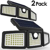 太阳能灯,PERFECTDAY 太阳能运动传感器灯超亮户外 128 LED *照明白色,2 只装
