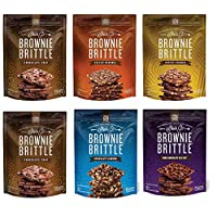 Brownie Brittle, Variety Pack, 5 Oz Bag (Pack of 6), The Unbelievably Rich and Delicious Chocolate Brownie Snack with A Cookie Crunch(Packaging May Vary)