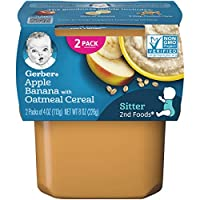 Gerber 2nd Foods Apple Banana with Oatmeal Cereal (Pack of 8)