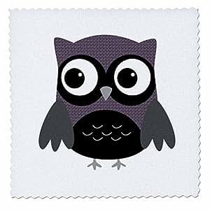 qs_61004 Anne Marie Baugh Owls - Cute Purple Pattern Owl - Quilt Squares