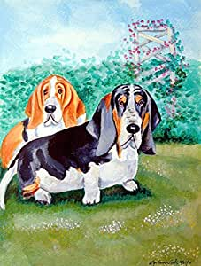 Basset Hound Double Trouble Flag 多色 大
