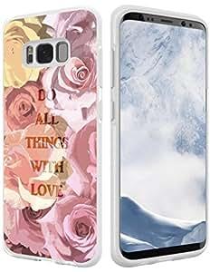 Hungo S8 Plus 手机壳圣经章节,三星盖乐世 S8 Plus 手机壳基督教语句十字设计书脊 Style136