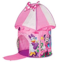Disney 米妮老鼠 KidActive Pop Up Playhouse Play 帐篷 - 室内或室外便携式玩耍 - 雏菊黄鸭,米妮