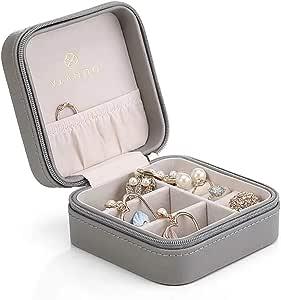 vlando 小号人造皮革旅行首饰盒收纳展示盒适用于戒指耳环项链
