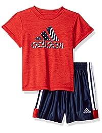 adidas Baby Boys Sleeve Tee and Short Set