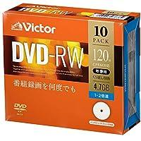 Victor Victor DVD-R/RWVHW12NP10J1 くり返し録画用 10枚(プラケース)