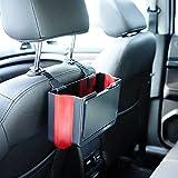 SUNKY 多功能汽车垃圾桶带托盘和杯架,可折叠汽车座椅垃圾箱支架汽车靠背座椅防水收纳袋