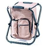 One Savvy Girl 超轻背包冷藏椅 – 小巧轻便便携折叠凳 – 适合户外活动、旅行、远足、露营、车尾聚会、海滩、游行等场合