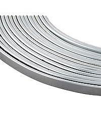 PH PandaHall 10 码 3 毫米宽扁平铝线,18 号银饰品艺术铝线,用于边框、雕塑、Armature、珠宝制作
