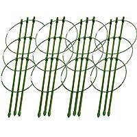花园番茄笼,植物支撑笼,18 英寸(约 45.7 厘米)带 3 个可调节环,适用于家庭花园阳台,4 个装,*(45.7 厘米)