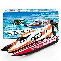 5 – 9 岁儿童迷你遥控船,快速遥控船泳池竞赛潜水艇水上玩具成人儿童礼物