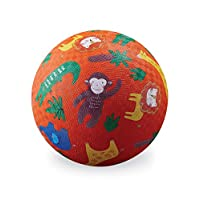 Crocodile Creek - 丛林 - 5 英寸橡胶操场球,适合 3 岁及以上儿童