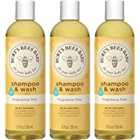 Burt's Bees Baby 洗發水&沐浴露, 不含香料 & 無淚配方嬰兒香皂 - 每瓶12 盎司(350ml) - 3件裝
