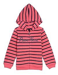 Nautica Girls' Cozy Nautex Polar Fleece Hoody with Printed Stripe