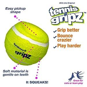 Nylabone Gripz 充气网球狗狗玩具 中
