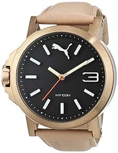 Puma 彪马 ultrasize 45 中性款石英手表表盘 模拟显示 皮革表带
