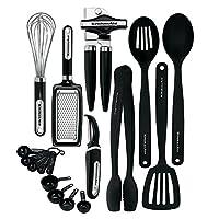 KitchenAid 经典 17 件装工具和小器具套件(黑色)