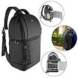 Neewer 吊带相机包 – 相机包背包带衬垫隔层,适用于数码单反相机和无反光相机(尼康、佳能、索尼宾得、奥林巴斯等)。 ),镜头,三脚架和其他配件(黑色)